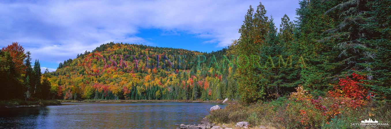 6x17 Panorama - Das Panorama am Lac Rémi entstand auf einer kleinen Wanderung im Nationalpark des Sept-Chutes.