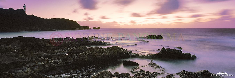6x17 Format - Zum Sunset am Punta de Teno, im äußersten Nordwesten Teneriffas. Diese Aufnahme entstand erneut im 6x17 Panoramaformat auf Kodak Portra 800 Film.