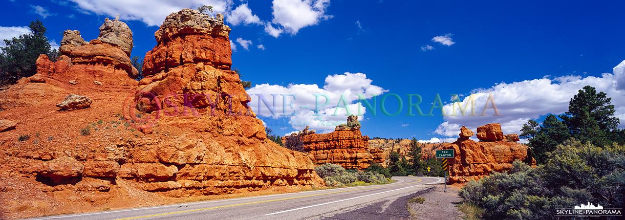 Auf dem Weg zum Bryce Canyon, vom Highway 89 kommend, fährt man am Red Canyon vorbei. Einen Stopp für ein paar Fotos sollte man hier auf jeden Fall einplanen.
