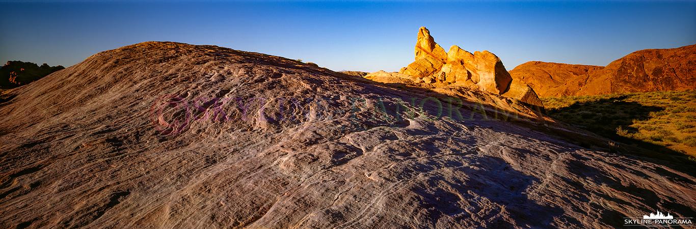 Panorama USA in 6x17 - Ein Panorama aus dem Valley of Fire State Park in Nevada, die Aufnahme entstand zum Sonnenuntergang, ganz in der Nähe der Fire Wave.