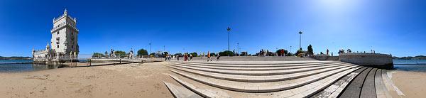 Stadtansichten von Lissabon als Panorama