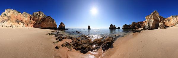 Ansichten der Algarve als Panorama