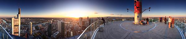 Panorama Skyline von Frankfurt - Aussicht vom Maintower