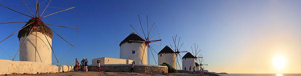 Bilder der insel Mykonos als Panorama