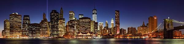 die Skyline von New York City als Panorama