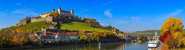 Würzburg Panorama - Stadtansichten am Tag und in der Dämmerung