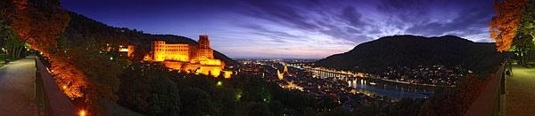 Stadtansichten aus Heidelberg als Panorama