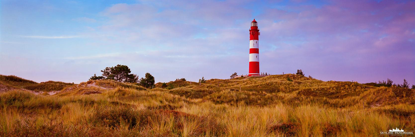 6x17 Panorama Amrum - Der Leuchtturm ist ein Wahrzeichen der Insel Amrum und für viele der Schönste in ganz Nordfiesland, er steht zwischen Wüttdün & Nebel...